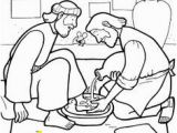 Jesus Washes the Disciples Feet Coloring Page 158 Best Drawings Line Images