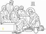 Jesus Washes the Disciples Feet Coloring Page Jesus Free Clipart 71
