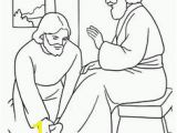 Jesus Washes the Disciples Feet Coloring Page Religious Ed