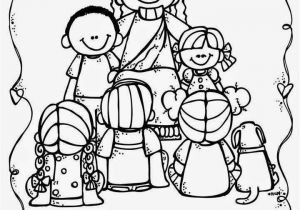 Jesus with Child Coloring Page Jesus with Children Coloring Page Best Jesus and Friends Coloring
