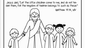 Jesus with Children Coloring Page Jesus Has Time for Me Bible Crafts Let the Little Children