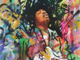 Jimi Hendrix Wall Mural Jimi Hendrix Singer Music Rock Painting Canvas Print Art