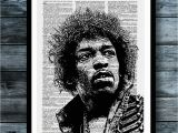 Jimi Hendrix Wall Mural Jimi Hendrix Vintage Dictionary Art Print Rock Music Wall