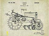 John Deere Tractor Wall Murals Amazon John Deere Tractor Patent Poster Art Print 11×14
