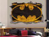 John Deere Tractor Wall Murals Batman Logo Wall Art Decal 3d Smashed Wood Textured Vinyl Wall Decor
