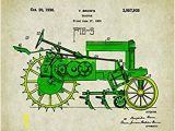 John Deere Tractor Wall Murals John Deere Tractor Patent Poster Art Print 11×14 toys Charles Freitag Wall Decor