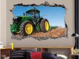 John Deere Wall Mural John Deere Green Tractor Wall Decal 3d Art Stickers Vinyl Wall