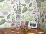 John Lewis Wall Murals Missprint House Plants Wallpaper Olive Misp1176
