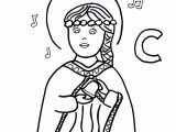 John Paul Ii Coloring Page Image Result for St Cecilia Coloring Page Vbs Pinterest
