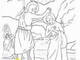 John the Baptist Baptizing Jesus Coloring Page 107 Best Coloring Pages Images