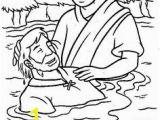 John the Baptist Baptizing Jesus Coloring Page 75 Best Coloring Bible Nt Gospels Images