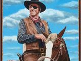 John Wayne Wall Mural Amazon John Wayne 1989 Rustic Metal Art Print by Mike