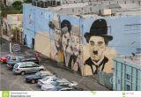 John Wayne Wall Mural Wandgemälde Mit Den Porträts Von John Wayne Elvis Presley