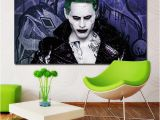 Joker Wall Mural Suicide Squad Jared Leto Joker Movie Figure Printing Posters Wall