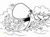 Jonah and the Whale Coloring Page Jonah and the Giant Whale Coloring Pages Printable