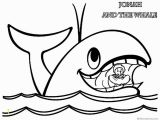 Jonah and the Whale Coloring Page Jonah and the Whale Coloring Pages Jonah In Whale's Mouth