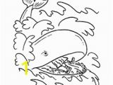 Jonah and the Whale Coloring Pages Jonah In the Sea with A Whale In Jonah and the Whale