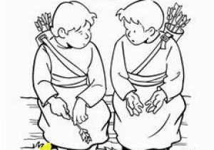 Jonathan and David Bible Coloring Pages 16 Best David and Saul Images On Pinterest