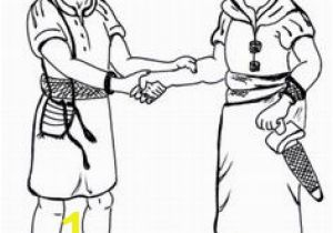 Jonathan and David Bible Coloring Pages 54 Best David and Jonathan Images On Pinterest