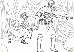 Jonathan and David Bible Coloring Pages David Cuts Saul S Robe Super Coloring for Kids