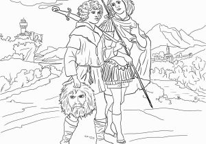 Jonathan and David Bible Coloring Pages King David Coloring Pages