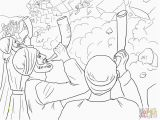 Joshua and the Battle Of Jericho Coloring Page Battle Jericho Coloring Page Coloring Home