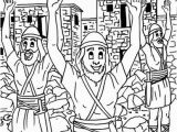Joshua and the Battle Of Jericho Coloring Page Creative Streams Bible Coloring Pages for Kids