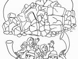 Joshua and the Battle Of Jericho Coloring Page Joshua Fought the Battle Of Jericho Coloring Pages