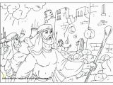 Joshua and the Battle Of Jericho Coloring Pages Joshua and the Battle Jericho Coloring Page and the Walls