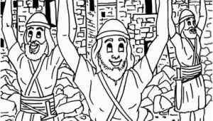 Joshua and the Battle Of Jericho Coloring Pages Joshua Jericho and the Promissed Land Coloring Pages