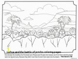 Joshua and the Promised Land Coloring Page Joshua and the Battle Jericho Coloring Pages Simple Color Pages