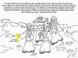 Joshua Crossing the Jordan River Coloring Page 107 Best Bible Joshua Images