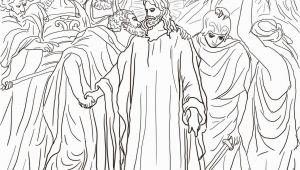 Judas Betrays Jesus with A Kiss Coloring Page Judas Betrays Jesus with A Kiss Coloring Page