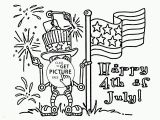 July 4th Coloring Pages Printable American Robot Fourth Of July Coloring Page for Kids