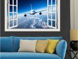 Jumbo Wall Murals 3d Airplane Wallpaper Removable Wall Sticker Vinyl Wall Art Mural