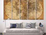 Jumbo Wall Murals Cheap Oversized Canvas Art Prints Vintage World Map Canvas Print X