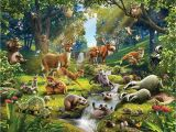 Jungle Adventure Wall Mural Fototapete Kinderzimmer Waldtiere