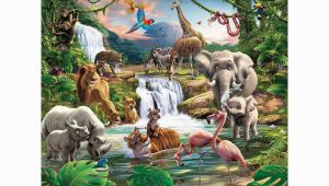 Jungle Adventure Wall Mural Walltastic Jungle Adventure Mural 8ft X 10ft In 2019