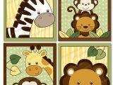 Jungle Animal Wall Murals Safari Jungle Animal Nursery Wall Art Printable Instant