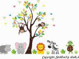 Jungle Animals Wall Mural Buy Zoo Animal Wall Mural Safari Animal Stickers Jungle