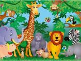 Jungle Animals Wall Mural Kids Jungle Mural