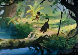 Jungle Book Mural Jungle Background Art for the 1967 Movie Illustrations