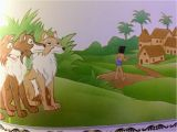 Jungle Book Mural the Jungle Book Mowgli Says Goodbye to His Wolf Brothers and Go to