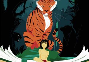Jungle Book Mural these Jungle Book Posters are Both Vibrant and foreboding