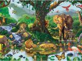 Jungle Book Wall Mural Nature S Harmony Jungle Animals Wallpaper Mural