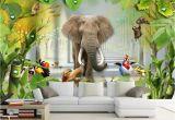 Jungle Mural for Children S Room Beibehang Custom Wallpaper 3d Cartoon Children S Room Murals 3d