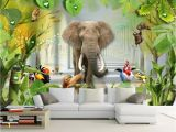 Jungle Mural for Children S Room Beibehang Custom Wallpaper 3d Cartoon Children S Room Murals 3d