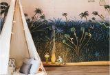 Jungle Mural for Children S Room Little Explorers Mural forest Bunny Scene Wallpaper Garden Scene