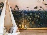 Jungle Mural for Children S Room Little Explorers Mural forest Bunny Scene Wallpaper Garden Scene