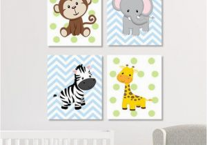 Jungle Mural for Nursery Jungle Nursery Decor Jungle Animals Wall Art Safari Nursery Decor
